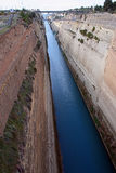 El canal de Corinto Imagen de archivo libre de regalías