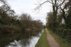 El canal de Fazeley cerca de Tamworth Imagenes de archivo