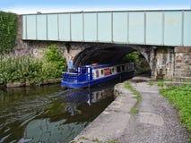 El canal de Leeds Liverpool en Burnley Lancashire Fotos de archivo