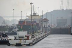 El Canal de Panamá Fotografía de archivo