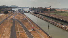 El Canal de Panamá Imágenes de archivo libres de regalías
