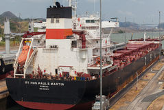 El Canal de Panamá Imagenes de archivo