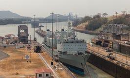 El Canal de Panamá Fotos de archivo