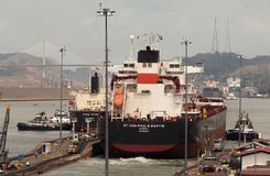 El Canal de Panamá Foto de archivo
