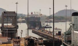 El Canal de Panamá Imagen de archivo