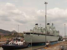 El Canal de Panamá Fotografía de archivo libre de regalías