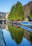 El canal de Rochdale hebden el puente Foto de archivo libre de regalías