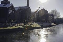 El canal de Trent y de Mersey adentro alimenta en Trent fotografía de archivo