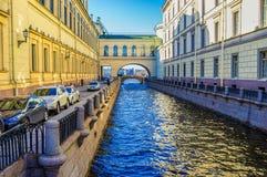 El canal del invierno Foto de archivo