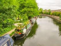 El canal del regente Poca Venecia, Londres, Reino Unido foto de archivo