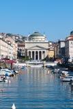 El canal grande en Trieste, Italia Imágenes de archivo libres de regalías