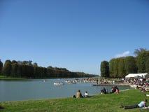 El canal magnífico Versalles - París Fotos de archivo