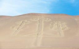 EL Candelabro, islas de Ballestas, Perú, foto de archivo