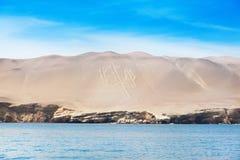 EL Candelabro, islas de Ballestas, Perú, fotos de archivo libres de regalías