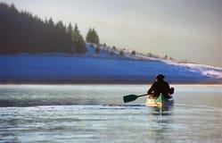 El Canoeing Foto de archivo libre de regalías