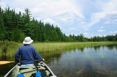 El Canoeing en el río de Inés foto de archivo libre de regalías