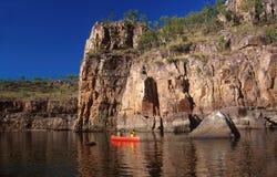 El Canoeing en la garganta de Catalina Fotos de archivo libres de regalías