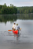 El Canoeing en parque provincial del Algonquin Imagen de archivo