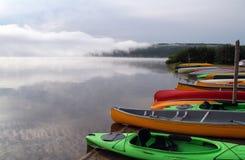 El Canoeing en parque provincial del Algonquin Fotografía de archivo libre de regalías