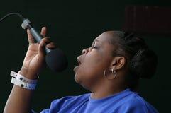El cantante #1 del evangelio de los tornados Fotos de archivo libres de regalías