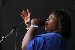 El cantante #2 del evangelio de los tornados Imágenes de archivo libres de regalías