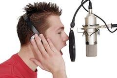 El cantante Imagen de archivo