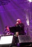 El cantante cubano Pablo Milanes en concierto Imagen de archivo libre de regalías