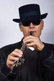 El cantante del jazz Imagen de archivo libre de regalías