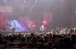 El cantante indio Sunidhi Chauhan se realiza en Bahrein Fotografía de archivo