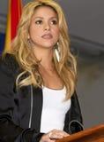 El cantante Shakira comenta respecto a la nueva inmigración de Arizona Fotografía de archivo libre de regalías