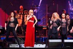 El cantante Valeria se realiza en etapa durante el 50.o concierto del cumpleaños del año de Viktor Drobysh en Barclay Center Foto de archivo libre de regalías