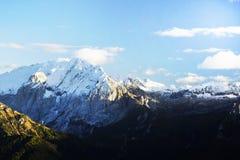 El canto de la montaña de Marmolada en otoño Fotografía de archivo libre de regalías