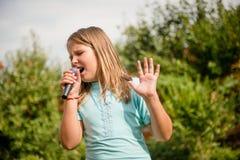 El canto es mi alegría Fotografía de archivo