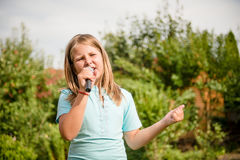 El canto es mi alegría Foto de archivo libre de regalías