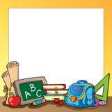 El capítulo con la escuela suministra 1 stock de ilustración