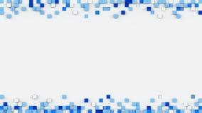 El capítulo del azul sacado cubica la representación 3D Fotografía de archivo