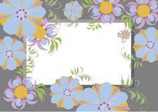 El capítulo para las imágenes florece el marco anaranjado púrpura azul para las imágenes foto de archivo libre de regalías