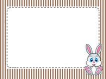 El capítulo raya la tarjeta de felicitaciones con el conejo Png disponible Imágenes de archivo libres de regalías