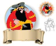 El capitán de piratas ilustración del vector