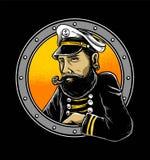 El capitán del hombre del marinero ilustración del vector