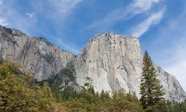 El Capitan和墙壁花岗岩 库存照片