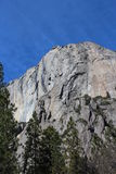 El Capitan山优胜美地国家公园 免版税库存照片