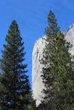 El Capitan山风景优胜美地国家公园 图库摄影