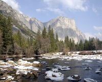 El Capitan. View at Yosemite National Park, CA Stock Images