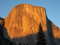 El Capitan. At sunset, Yosemite National Park Stock Image
