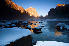 El Capitan And Merced River Royalty Free Stock Photos