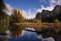 El Capitan Bridal Viel Falls Merced River Yosemite National Park Royalty Free Stock Images