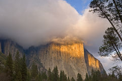 El Capitan Clearing Storm Royalty Free Stock Photo