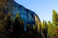 EL Capitan e caduta di Hosetail in parco nazionale di Yosemite in primavera Fotografia Stock