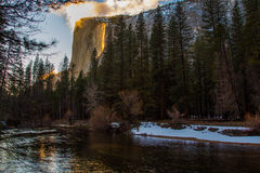 El Capitan Firefall Royalty Free Stock Photo
